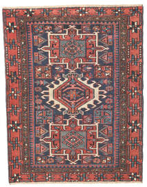 Heriz Patina Teppe 96X123 Ekte Orientalsk Håndknyttet Mørk Grå/Rust (Ull, Persia/Iran)