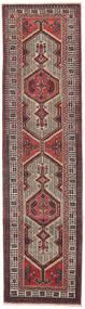 Sarab Patina Teppe 87X327 Ekte Orientalsk Håndknyttet Teppeløpere Mørk Brun/Brun (Ull, Persia/Iran)