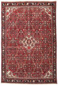 Hamadan Patina Teppe 135X202 Ekte Orientalsk Håndknyttet Mørk Brun/Rød (Ull, Persia/Iran)