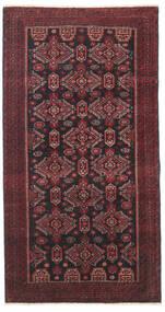 Beluch Patina Teppe 95X177 Ekte Orientalsk Håndknyttet Mørk Rød/Svart/Mørk Brun (Ull, Persia/Iran)