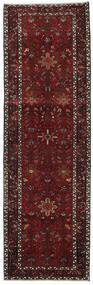 Heriz Teppe 100X318 Ekte Orientalsk Håndknyttet Teppeløpere Mørk Rød/Mørk Grå (Ull, Persia/Iran)