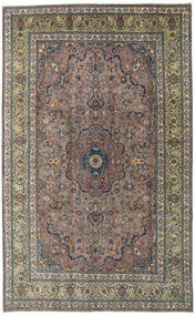 Kashmar Patina Teppe 195X310 Ekte Orientalsk Håndknyttet Mørk Grå/Lysbrun (Ull, Persia/Iran)