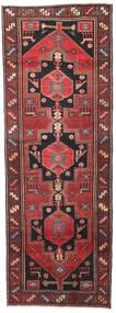 Hamadan Patina Teppe 102X287 Ekte Orientalsk Håndknyttet Teppeløpere Mørk Rød/Svart (Ull, Persia/Iran)