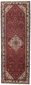 Hamadan Patina Teppe 110X304 Ekte Orientalsk Håndknyttet Teppeløpere Mørk Brun/Mørk Rød (Ull, Persia/Iran)