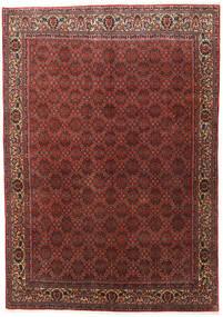 Bidjar Zanjan Teppe 202X288 Ekte Orientalsk Håndknyttet Mørk Rød/Mørk Brun (Ull, Persia/Iran)