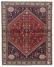 Abadeh Teppe 100X128 Ekte Orientalsk Håndknyttet Mørk Brun/Mørk Rød (Ull, Persia/Iran)