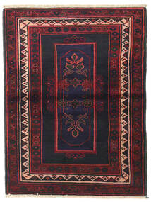 Hamadan Teppe 103X136 Ekte Orientalsk Håndknyttet Mørk Grå/Mørk Rød (Ull, Persia/Iran)