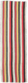 Kelim Fars Teppe 85X278 Ekte Orientalsk Håndvevd Teppeløpere Beige/Mørk Grønn (Ull, Persia/Iran)