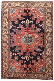 Hamadan Teppe 135X200 Ekte Orientalsk Håndknyttet Mørk Rød/Mørk Brun (Ull, Persia/Iran)