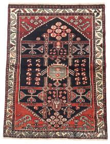 Saveh Teppe 105X140 Ekte Orientalsk Håndknyttet Mørk Rød/Mørk Blå (Ull, Persia/Iran)