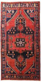 Hamadan Teppe 160X313 Ekte Orientalsk Håndknyttet Teppeløpere Mørk Rød/Svart (Ull, Persia/Iran)