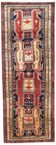 Ardebil Teppe 114X307 Ekte Orientalsk Håndknyttet Teppeløpere Mørk Rød/Mørk Grå (Ull, Persia/Iran)
