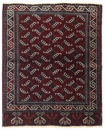 Turkaman Teppe 105X128 Ekte Orientalsk Håndknyttet Mørk Rød (Ull, Persia/Iran)