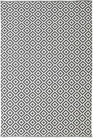 Torun - Svart/Neutral Teppe 200X300 Ekte Moderne Håndvevd Mørk Grå/Beige (Bomull, India)
