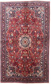 Bidjar Teppe 130X220 Ekte Orientalsk Håndknyttet Mørk Lilla/Rød (Ull, Persia/Iran)