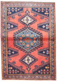 Wiss Teppe 100X145 Ekte Orientalsk Håndknyttet Lyserosa/Mørk Lilla (Ull, Persia/Iran)