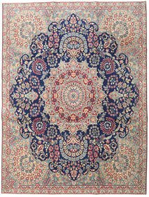 Kerman Patina Teppe 230X305 Ekte Orientalsk Håndknyttet Lys Grå/Mørk Beige (Ull, Persia/Iran)