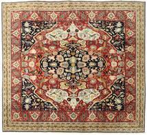 Tabriz Teppe 265X285 Ekte Orientalsk Håndknyttet Kvadratisk Mørk Beige/Mørk Grå Stort (Ull, Persia/Iran)