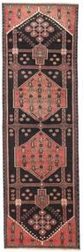 Hamadan Patina Teppe 90X285 Ekte Orientalsk Håndknyttet Teppeløpere Svart/Brun (Ull, Persia/Iran)