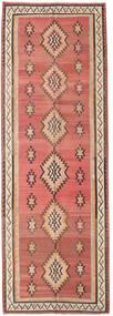 Kelim Fars Teppe 155X460 Ekte Orientalsk Håndvevd Teppeløpere Mørk Rød/Mørk Brun (Ull, Persia/Iran)