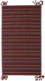 Kelim Fars Teppe 205X365 Ekte Orientalsk Håndvevd Mørk Grå/Mørk Brun (Ull, Persia/Iran)