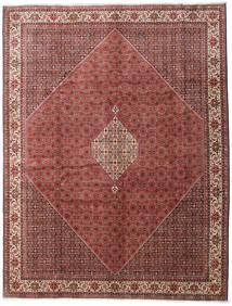 Bidjar Zanjan Teppe 300X390 Ekte Orientalsk Håndknyttet Mørk Brun/Mørk Rød Stort (Ull, Persia/Iran)