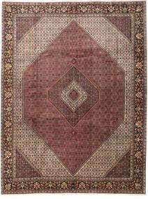 Bidjar Teppe 303X396 Ekte Orientalsk Håndknyttet Mørk Rød/Mørk Brun Stort (Ull, Persia/Iran)