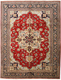 Heriz Teppe 310X398 Ekte Orientalsk Håndknyttet Mørk Brun/Lysbrun Stort (Ull, Persia/Iran)