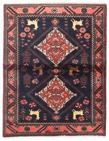 Saveh Teppe 110X142 Ekte Orientalsk Håndknyttet Svart/Mørk Brun (Ull, Persia/Iran)