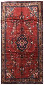 Hamadan Teppe 165X300 Ekte Orientalsk Håndknyttet Teppeløpere Mørk Rød/Mørk Blå (Ull, Persia/Iran)