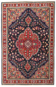 Tabriz Patina Teppe 98X150 Ekte Orientalsk Håndknyttet Mørk Grå/Mørk Rød (Ull, Persia/Iran)