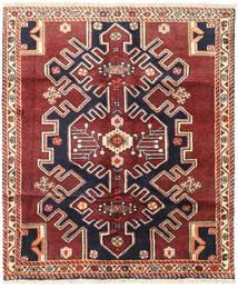 Saveh Teppe 125X145 Ekte Orientalsk Håndknyttet Mørk Rød/Mørk Lilla (Ull, Persia/Iran)