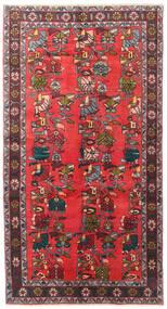Ardebil Teppe 139X256 Ekte Orientalsk Håndknyttet Mørk Brun/Rød (Ull, Persia/Iran)