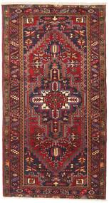 Heriz Teppe 115X220 Ekte Orientalsk Håndknyttet Mørk Rød/Mørk Grå (Ull, Persia/Iran)