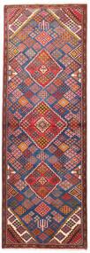Joshaghan Teppe 100X292 Ekte Orientalsk Håndknyttet Teppeløpere Mørk Rød/Rust (Ull, Persia/Iran)