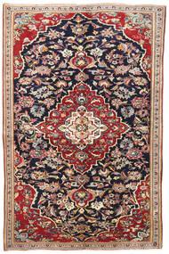 Yazd Teppe 145X220 Ekte Orientalsk Håndknyttet Mørk Lilla/Mørk Rød (Ull, Persia/Iran)