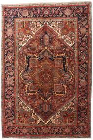 Heriz Teppe 195X290 Ekte Orientalsk Håndknyttet Mørk Brun/Mørk Rød (Ull, Persia/Iran)