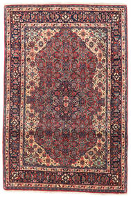 Bidjar Teppe 105X155 Ekte Orientalsk Håndknyttet Mørk Lilla/Mørk Rød (Ull, Persia/Iran)