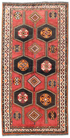 Shiraz Teppe 125X240 Ekte Orientalsk Håndknyttet Mørk Rød/Rød (Ull, Persia/Iran)