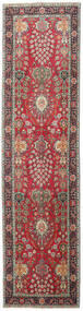 Tabriz Patina Teppe 98X387 Ekte Orientalsk Håndknyttet Teppeløpere Mørk Grå/Mørk Rød (Ull, Persia/Iran)