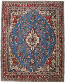 Hamadan Patina Teppe 320X410 Ekte Orientalsk Håndknyttet Blå/Mørk Rød/Svart Stort (Ull, Persia/Iran)