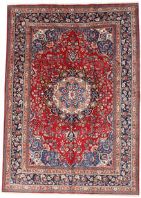 Mashad Teppe 242X340 Ekte Orientalsk Håndknyttet Mørk Rød/Beige (Ull, Persia/Iran)