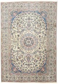 Nain Teppe 245X352 Ekte Orientalsk Håndknyttet Lys Grå/Beige (Ull, Persia/Iran)