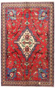 Nahavand Teppe 160X253 Ekte Orientalsk Håndknyttet Rød/Mørk Rød (Ull, Persia/Iran)