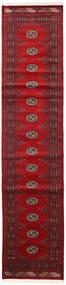 Pakistan Bokhara 2Ply Teppe 78X352 Ekte Orientalsk Håndknyttet Teppeløpere Mørk Rød/Rød (Ull, Pakistan)