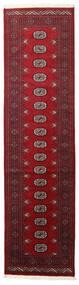 Pakistan Bokhara 2Ply Teppe 80X305 Ekte Orientalsk Håndknyttet Teppeløpere Mørk Rød/Mørk Brun (Ull, Pakistan)