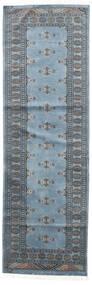 Pakistan Bokhara 2Ply Teppe 75X238 Ekte Orientalsk Håndknyttet Teppeløpere Blå/Lys Blå/Mørk Grå (Ull, Pakistan)