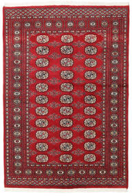 Pakistan Bokhara 2Ply Teppe 136X199 Ekte Orientalsk Håndknyttet Mørk Rød/Rød (Ull, Pakistan)
