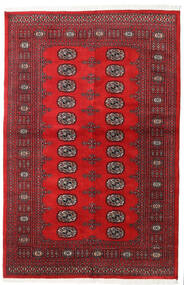 Pakistan Bokhara 2Ply Teppe 136X208 Ekte Orientalsk Håndknyttet Rød/Mørk Rød (Ull, Pakistan)