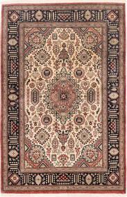 Ghom Silke Teppe 75X116 Ekte Orientalsk Håndknyttet Mørk Rød/Mørk Brun (Silke, Persia/Iran)